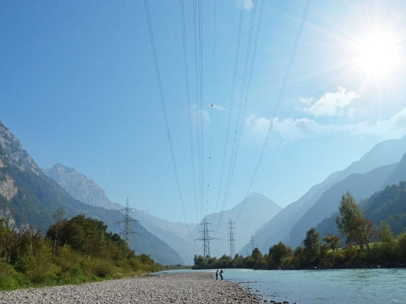 Power LInes across a river